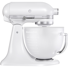 robot kitchen aid blanc givré