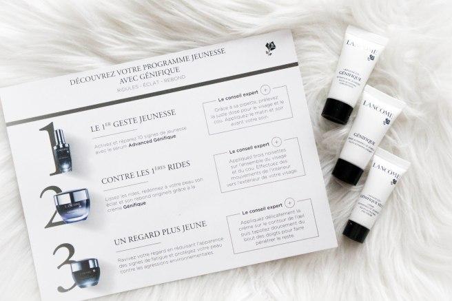 recevoir des échantillons gratuits soin du visage maquillage Lancome